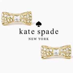 Kate spade pave bow stud earrings
